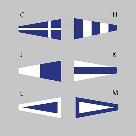 Ännu fler vimplar/flaggor som du kan välja mellan. Du väljer själv vilka flaggkombinationer du vill ha.