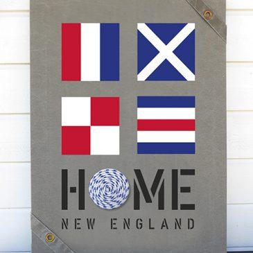 NEW ENGLAND HOME – TAVLOR OCH KUDDAR I MARIN STIL!