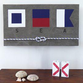 New England tavla med signalflaggor och deras betydelse