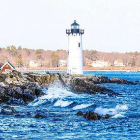 Fyr från New England kusten.