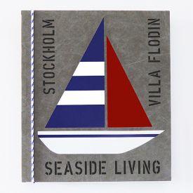 Tavla med segelbåt målad på kraftig canvasduk med egna personliga texter.