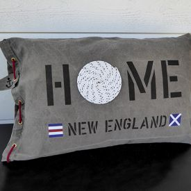 New England home kuddar i marin stil i sliten canvas
