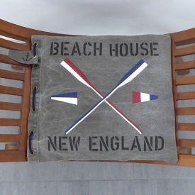 Dynor i New England stil med vimplar och åror samt valfria texter