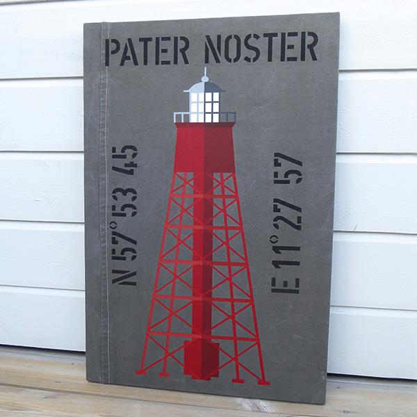 Pater Noster i New England stil med personliga koordinater